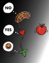 Cartoon: DONT EAT (small) by Hossein Kazem tagged dont,eat