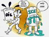 Cartoon: ice and oil (small) by Hossein Kazem tagged ice,and,oil
