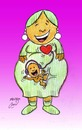 Cartoon: mother day (small) by Hossein Kazem tagged mother,day