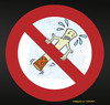 Cartoon: no smoking (small) by Hossein Kazem tagged no,smoking