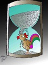 Cartoon: rooster (small) by Hossein Kazem tagged rooster