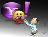 Cartoon: yahoo chat (small) by Hossein Kazem tagged yahoo,chat