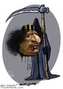 Cartoon: Gaddafi was killed (small) by goodarzi tagged gaddafi,killed,abbas,goodarzi,death,zrayyl,dos,blood,head,language,libya,revolution,murder