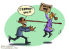 Cartoon: wall st and obama (small) by goodarzi tagged wall,st,obama,usa,gerle