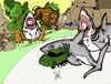 Cartoon: How GREAT WHITE SHARKS hunt. (small) by DaD O Matic tagged hunting greatwhite shark wild nature