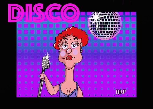 Cartoon: DISCO IS BACK (medium) by tonyp tagged arp,disco,is,back,music,color,colour