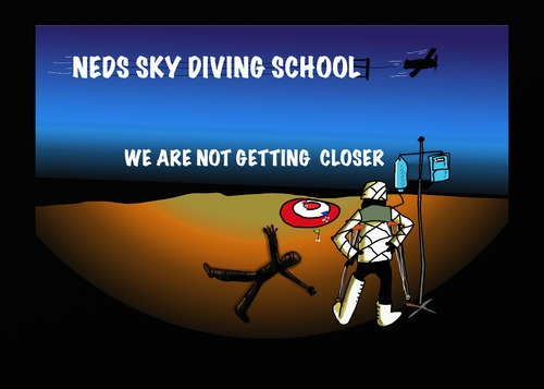 Cartoon: Do not go there (medium) by tonyp tagged arp,needs,sky,diving,school