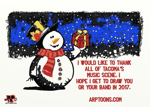 Cartoon: Holiday wishes (medium) by tonyp tagged arp,card,holidays,fun,party,thanks