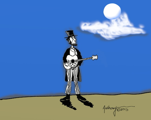 Cartoon: Lincoln Doing some moon lighting (medium) by tonyp tagged lincoln,arp,tonyp,music,history