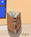 Cartoon: book e3nding (small) by tonyp tagged arp,cartoons,ink,pencil,tonyp,music,apt,building