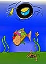 Cartoon: ouch (small) by tonyp tagged arp,water,arptoons,ouch,fish