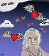 Cartoon: Seeing spirits in the sky (small) by tonyp tagged arp,girl,spirits,arptoons