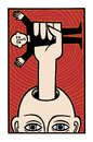 Cartoon: All power to you (small) by baggelboy tagged power,fist,head,hole