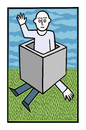 Cartoon: Back down to earth (small) by baggelboy tagged box