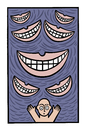 Cartoon: The univers of evil grins (small) by baggelboy tagged smile,grin,run,escape