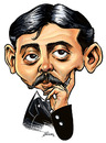 Cartoon: Marcel Proust (small) by William Medeiros tagged writers,literature