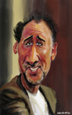 Cartoon: Nicolas Cage (small) by leandrofca tagged caricature,art,ilustration