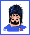 Cartoon: Gattuso (small) by juniorlopes tagged world,cup,2010