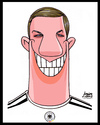 Cartoon: Podolski (small) by juniorlopes tagged football