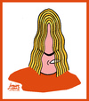 Cartoon: Puyol (small) by juniorlopes tagged world,cup,2010