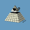 Cartoon: The all seeing eye (small) by LeeFelo tagged conspiracy,symbol,esoteric,pyramid,ancient,cult
