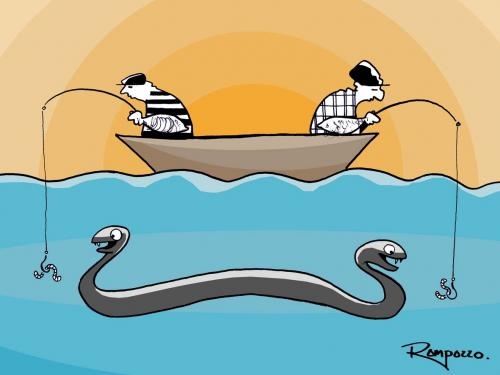 Cartoon: Funny fishing (medium) by Marcelo Rampazzo tagged funny,fishing,,