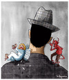 Cartoon: Face of Evil (small) by Marcelo Rampazzo tagged evil,angel,bad