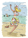 Cartoon: I love you darling! (small) by Marcelo Rampazzo tagged love,surf,girlfriend