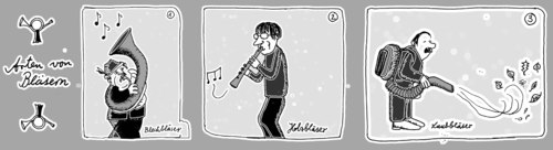 Cartoon: . (medium) by Florian France tagged bläser,holz,laub,sauger,blechblasinstrument,holzblasinstrument
