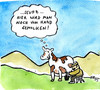 Cartoon: von Hand (small) by Florian France tagged kuh,melken,alpen,melkschemel,wiese,milch