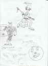 Cartoon: akira superman (small) by neudecker tagged cartoon zeichnung bw drawing