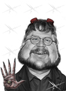 Cartoon: Guillermo del Toro (small) by Mecho tagged guillermo,del,toro,cine,movie