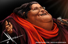 Cartoon: Mercedes Sosa (small) by Mecho tagged caricature,caricatures,singer