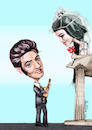Cartoon: elvis (small) by ivo tagged wow