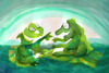 Cartoon: frogs (small) by ivo tagged wow
