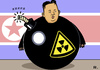 Cartoon: A -mok Kim (small) by RachelGold tagged kim,jong,un,north,korea,nuklear,amok,running,bomb