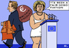 Cartoon: Britain Discount (small) by RachelGold tagged britain,eu,budget,council,cameron,merkel