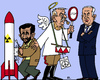 Cartoon: Günther Grass - Maulhelden (small) by RachelGold tagged günther,grass,ahmadinejad,netanyahu,german,poet,iran,israel