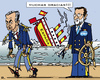 Cartoon: Handover of Power (small) by RachelGold tagged spain,zapatero,rajoy,psoe,pp,barco,resignation,election