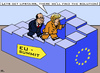 Cartoon: Never ending Story (small) by RachelGold tagged eu,euro,crisis,summit,brussels,germany,merkel,hollande,penrosestairs