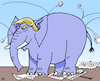 Cartoon: resistant to criticism (small) by RachelGold tagged usa,president,trump,elephant,resistant,criticism