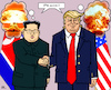 Cartoon: World Peace (small) by RachelGold tagged usa,north,korea,trump,kim,summit,peace,world,war