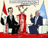 Cartoon: another warning (small) by MarkusSzy tagged syria,uno,assad,annan,warning,observing