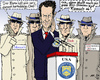 Cartoon: Rating-Agenten (small) by MarkusSzy tagged eu,usa,euro,krise,ratingagenturen,us,finanzminister,geithner