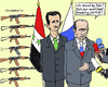 Cartoon: Solidarity (small) by MarkusSzy tagged syria,russia,assad,putin,support,trading,partner,arms