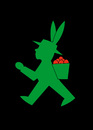 Cartoon: Osterhase (small) by Thomas Bühler tagged osterhase,ampelmännchen,hase,ostern