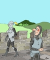 Cartoon: Knight in amour! (small) by aarbee tagged knights,history