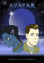 Cartoon: Avatar - Aufbruch nach Pandora (small) by ms-illustration tagged avatar,aufbruch,nach,pandora,jake,sully,navi