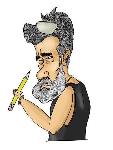 Cartoon: Cartoonist (medium) by Nayer tagged cartoonist,lucido,romania,nayer,sudan