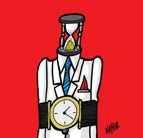 Cartoon: Time (medium) by Nayer tagged time,life,end,chain,human,dead,death